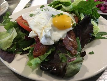 Madeline's Open-Faced BLT with Egg