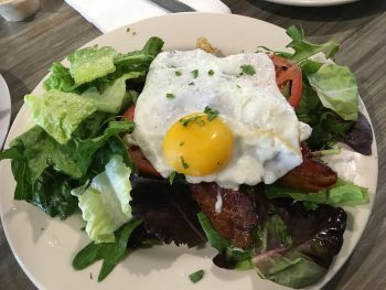 Madeline's Open-Faced BLT with Egg, Salad & Arugula Pesto
