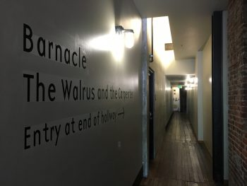 The Walrus & The Carpenter Hallway Signage