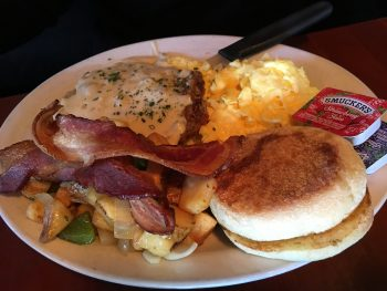 The Lockspot Cafe Chicken Fried Steak & Eggs